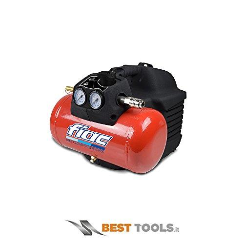 Compressore d\'aria Fiac Hobby EASY 1100 portatile con serbatoio 6 Lt con 0,3 Kw