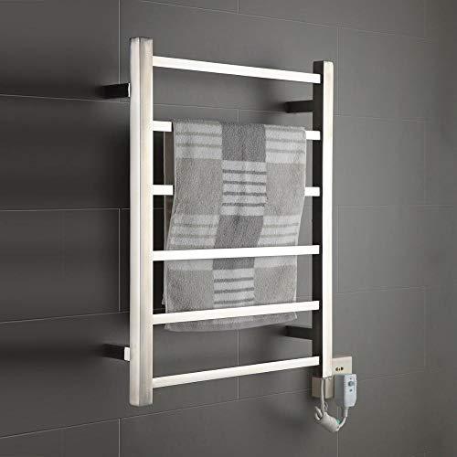 FOUR Chauffe-Serviette, Serviette électrique chauffée Durable Rail radiateur chauffe-argent-650 * 500 * 110mm-60W Manuel