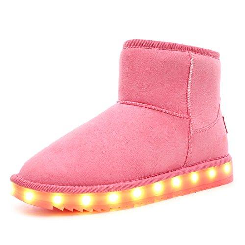 O&N LED Schuh Bunte Winterstiefel Schneestiefel USB Aufladen -