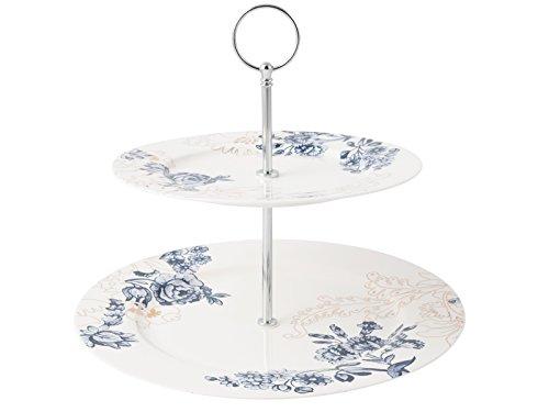 Heritage White Plate (V & A Museum Palmers Seide Kuchen Ständer, China, weiß)