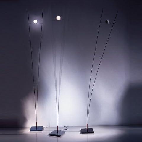 Ingo maurer ilios lampe sur pied en acier inoxydable, avec séparation avec variateur noir