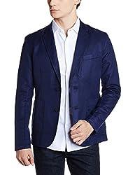 United Colors of Benetton Mens Linen Jacket (8903975453562_17A2FSIC2024I902L_Blue)