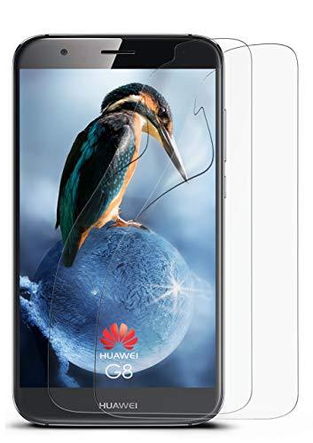 2X Huawei G8 | Schutzfolie Matt Bildschirm Schutz [Anti-Reflex] Screen Protector Fingerprint Handy-Folie Matte Bildschirmschutz-Folie für Huawei G8/G8X Bildschirmfolie