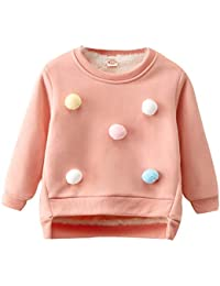Hawkimin Baby-Mädchen Sweatshirt Langarm Kleidungs Outfits