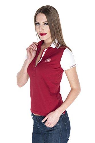 Giorgio Di Mare femme polo manche courte Rouge - Rouge/blanc