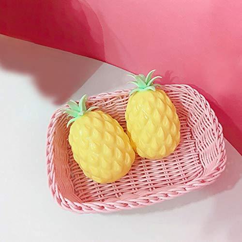 Plüsch Bildung Squishy Spielzeug aufblasbares Spielzeug im Freien Spielzeug,Ananas Squeeze Heilspaß Kinder Kawaii Spielzeug Stressabbau Dekoration Spielzeug ()