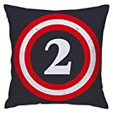 Captain 2nd Birthday Soft Throw Pillow Cover Cases for Couch Sofa 18 X 18 Inches