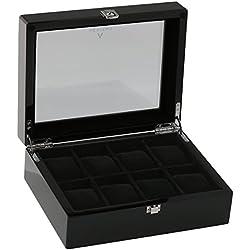 Piano Black Watch Sammler Box für 8Handgelenk Uhren von aevitas