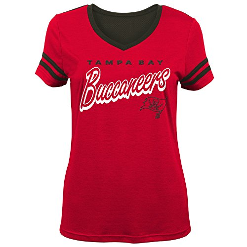 NFL by Outerstuff NFL Tampa Bay Buccaneers Mädchen Sound Wave Kurzarm T-Shirt, Rot, Größe XL (16)