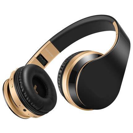 TGSKGZKJDBMD Headsets Bluetooth Kopfhörer Drahtlose Kopfhörer Stereo Bass Headset Ohrhörer Faltbare Sport Kopfhörer mit Mikrofon MP3-Player, schwarz