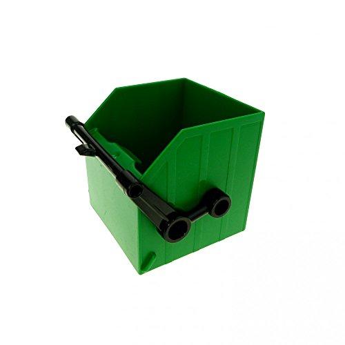 1 x Lego Duplo LKW Aufsatz grün Kipp Müll Container Wagen Auto Baustelle 9211 4649 5691 2364c01 (Spielzeug-müll-lkw Grün)