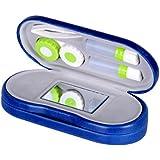 ROSENICE Lentilles de contact cas 2 en 1 Boîtier pour lentilles et lunettes de contact Double utilisation portable Pour Home Travel Kit (Bleu royal)