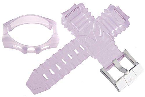 Techno marine plastica trasparente viola cinturino dell' orologio da uomo...