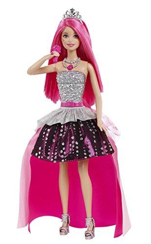 Mattel Barbie CMR83  - Eine Prinzessin im Rockstar Camp - Prinzessin Courtney mit Mikrofon (Für Mädchen Rockstar-outfits)
