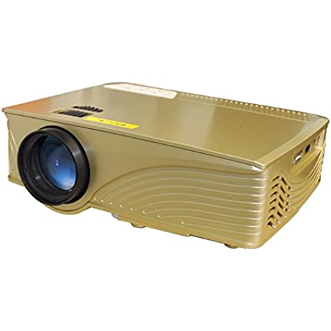 2016 nuevo LED 106 + mini proyector portátil Home Theater multimedia Champagne Gold