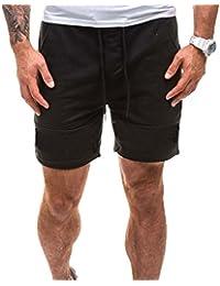 90ab4ef0de76 BYSTE Shorts da Uomo,Pantaloncini Cargo con Tasche e Coulisse Vita Elastica  Estate Bermuda da Uomo Pantaloni Domestici Dritto…