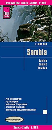 Preisvergleich Produktbild Reise Know-How Landkarte Sambia (1:1.000.000): world mapping project