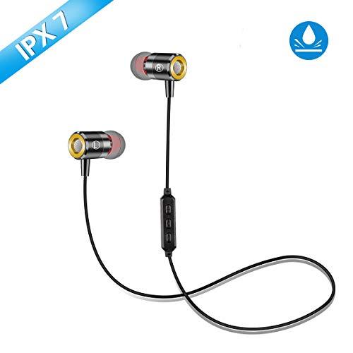 Bluetooth Kopfhörer In Ear,Pomisty Sport Kopfhörer Bluetooth 5.0,IPX7 Wasserdicht Sport Ohrhörer mit Mikrofon Sportkopfhörer für Joggen/Laufen/Fitness für iPhone Android usw