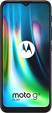 Moto G9 Play, 128GB ROM, 4GB RAM, Sapphire Blue - Amazon Exclusive