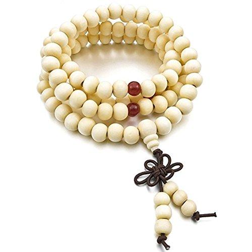 Tibetische Stil, Stillshine - 8MM 108 PCs Holz Buddha Perlen Armband buddhistische Gebet, Charm Männer Frauen Gift Box (Stil (Trachten Home Party Schmuck)