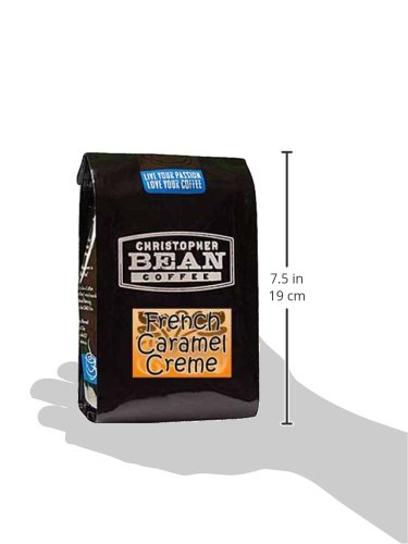 Christopher Bean Coffee Flavored Ground Coffee, French Caramel Creme, 12 Ounce by Christopher Bean Coffee