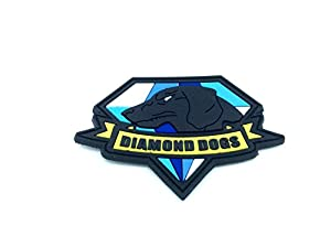 Diamant Chiens en métal Gear Solid Cosplay Airsoft Patch en PVC