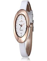 JIANGYUYAN - Reloj de Pulsera para Mujer, Ovalado, Oro Rosa, con Diamantes de