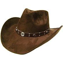 Modestone Unisex Felt Feel Wide Brim Sombrero Vaquero Brown 6bc48d54b58