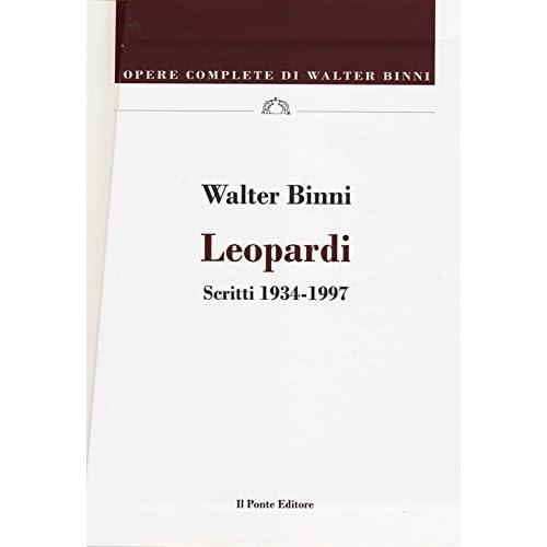 Leopardi. Scritti 1834-1837