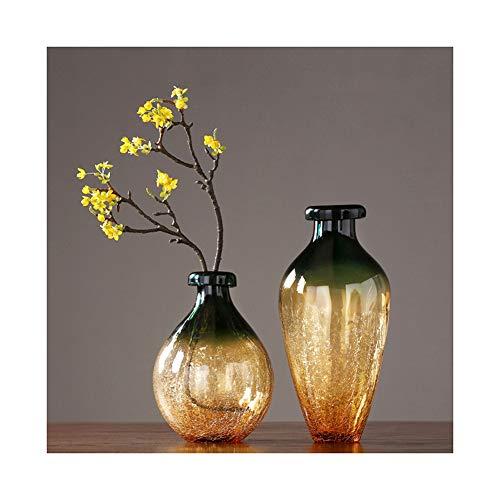 DGYAXIN Vase Glass, Hochwertig Modern Decoration Flower Vase, Tulpen Glasvase, Tulpenvase, Plants Bottles, Kunstblumen Blumenvase, Garden Osterdekoration Anniversaries Sonnenblumen Möbel,Gold,Big Crystal Glass Vase