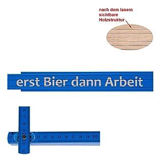 Zollstock/Meterstab erst Bier dann Arbeit