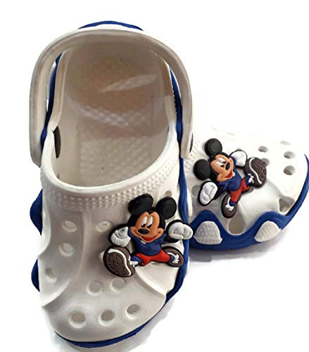 NEW AMERICAN Kids Attractive Clogs (18 EU (Age 6 to 12 Month), White)