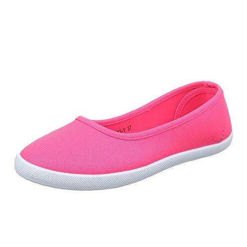 Damen Schuhe, 943-Y-1, HALBSCHUHE, SLIPPER FREIZEITSCHUHE, Synthetik , Pink, Gr 38
