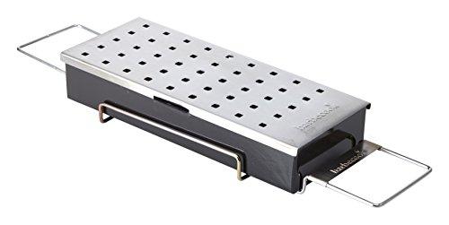 Räucherbox Edelstahl für Räucher-Chips verleiht Fleisch Fisch  Rauch-Auroma Universal geeignet Holzkohlegrill Gas-Grill -