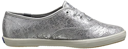 Keds Champion Metallic, Baskets Basses Femme Argent (Silver)