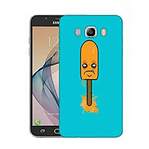Snoogg Yellow Ice Cream Designer Protective Back Case Cover For Samsung Galaxy On8