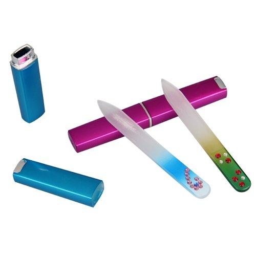 Kit 2 Lima Cristal para las Uñas Manicura Pedicura Nail Files
