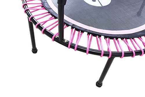 Miweba JUMPNESS Fitness Trampolin Round 40` inklusive Pad 100 cm pink Minitrampolin Workout -