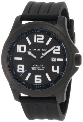 Momentum - 1M-SP06B1B - Montre Homme - Quartz Analogique - Bracelet Caoutchouc noir