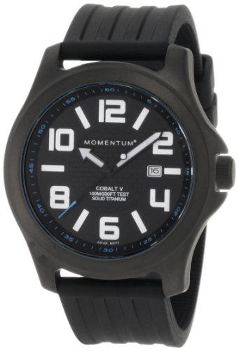 Momentum Herren-Armbanduhr XL COBALT V Analog Quarz Kautschuk 1M-SP06B1B