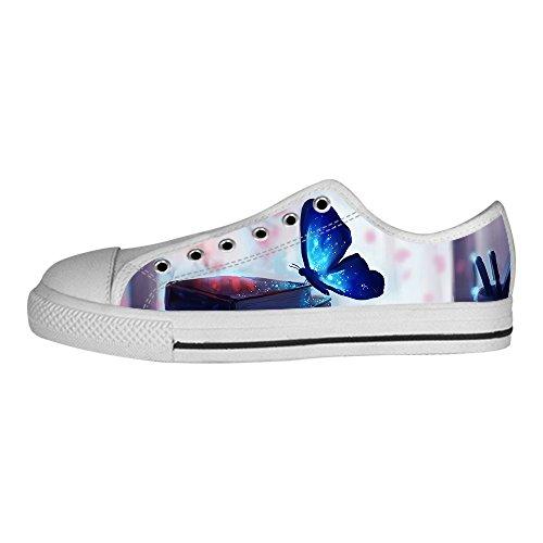 der Schmetterling Women's Canvas shoes Schuhe Lace-up High-top Footwear Sneakers (Tmnt Farben)