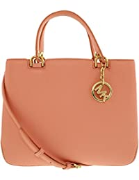 0f134ba79a5f Michael Kors Women s Anabelle Top Zip Leather Tote Bag (Medium)