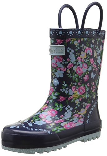 Start-rite Girls' Posy Puddle Navy Floral Wellington Boots