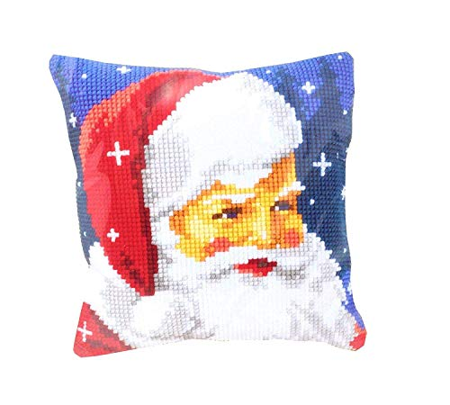 Père Noël Rouge Blanc Bleu Housse de Coussin 16 \