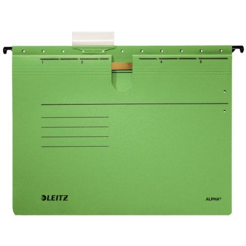Preisvergleich Produktbild Leitz 1984 Hängehefter grün Alpha Sichtreiter Packung 5 Hefter