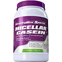 HealthyHey Sports Pure Micellar Casein Protein Powder- Unflavoured (1kg) (Unflavoured)