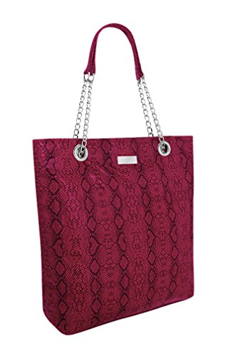 EyeCatch - Sac à main Designer Femmes Serpent Animal Embossé Faux cuir Ladies Sac à bandoulière