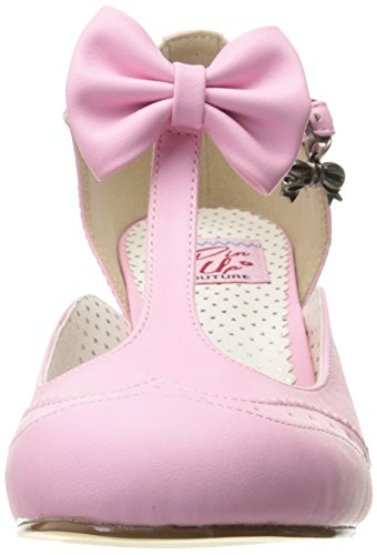 Pin Up Couture - Flapper-11, Scarpe con cinturino Donna Pink (Pink Faux Leather)