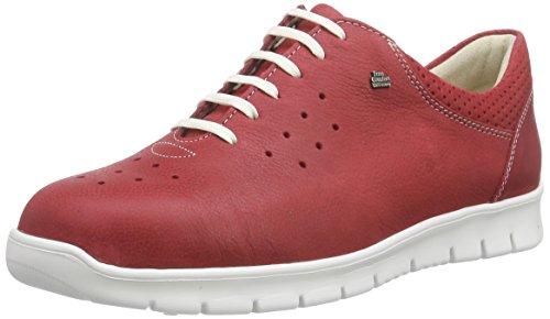 Finn Comfort Barletta, Chaussures Oxford femme Rouge - Rot (Indianred)