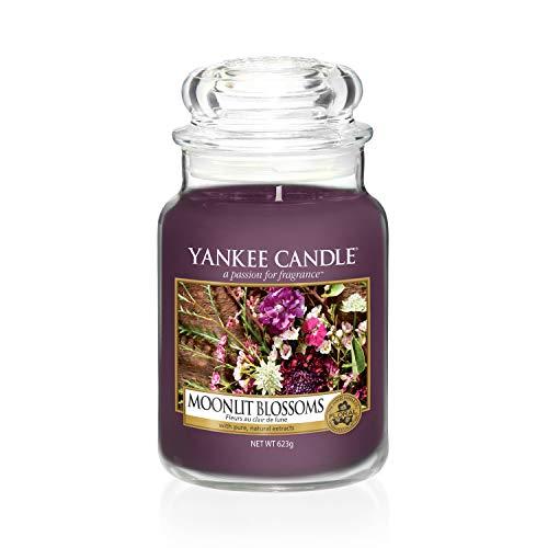 Yankee Candle Duftkerze im großen Jar, Moonlit Blossoms - Amber Blossom